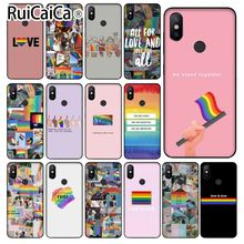 Ruicaica Gay Lesbian LGBT Rainbow Pride Newly Arrived Black Cell Phone Case for Xiaomi MI MIX 2 2S 6 8 8SE Note 3 Redmi 5 plus
