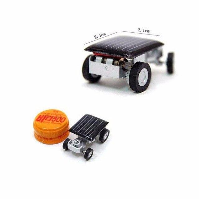 Smallest Mini Car Solar Powered Toy Car New Mini Children Solar Toy Gift Freeshipping FCI#
