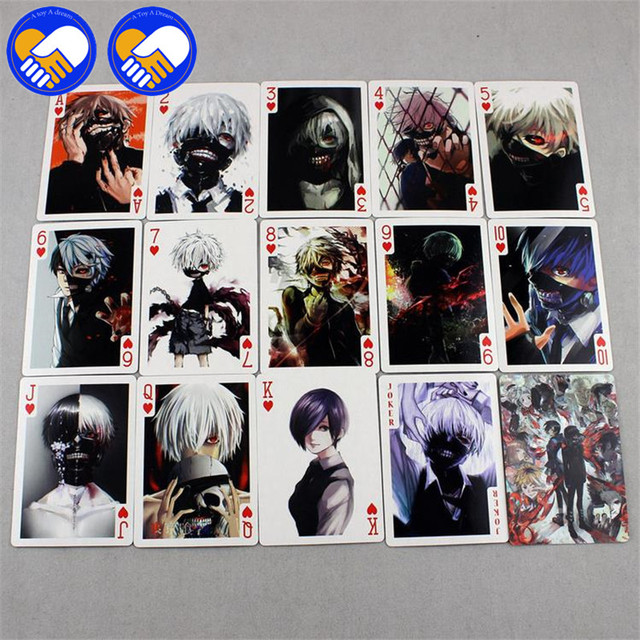 54 pcs/pack Death Notes Tokyo Ghoul Poker Game Cards Toy
