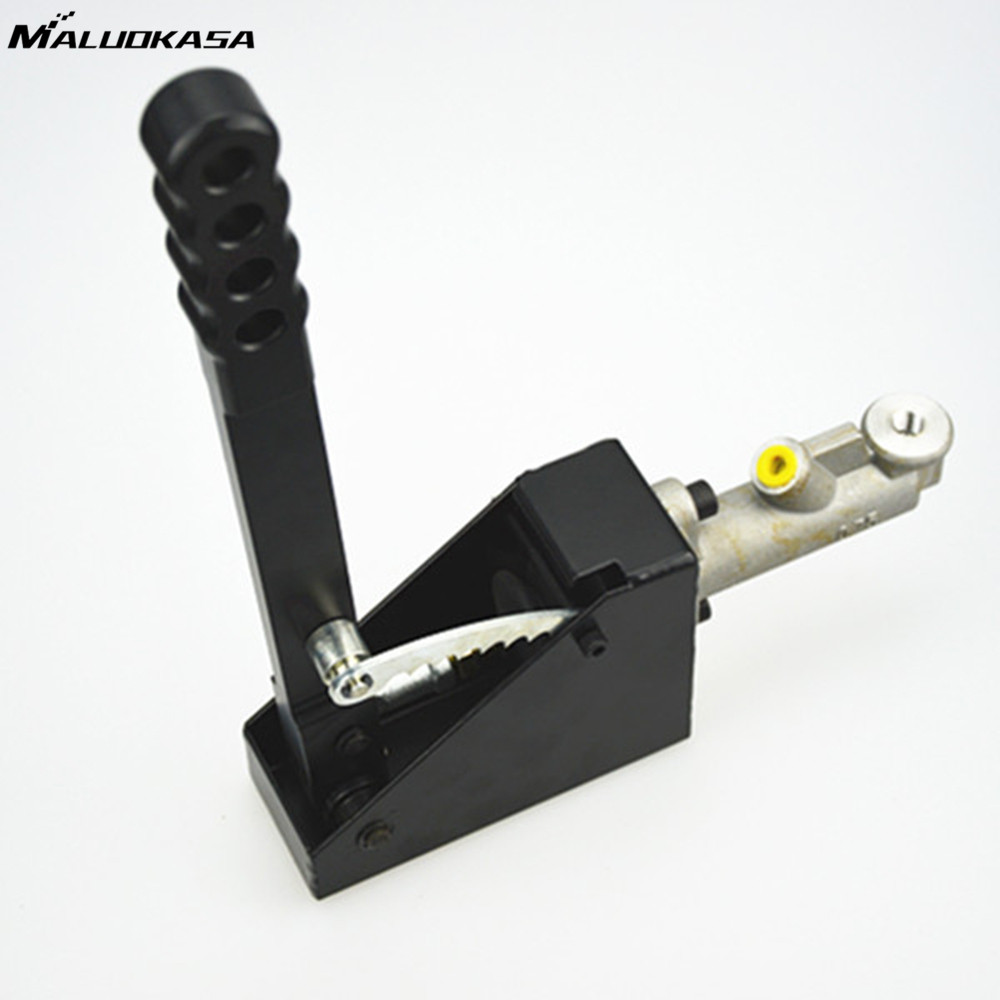 MALUOKASA Universal Hand Brake Car Vertical Hydraulic Handbrake Black Hydro E-brake Drift Rally Race Aluminum Automobile Parts neo chrome adjustable e brake hydraulic drift racing handbrake hand brake vertical horizontal s14 ae86