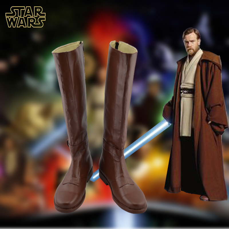 Star Wars Cosplay Shoes Jedi Knight Obi Wan Boots For Adult Halloween Custom Made
