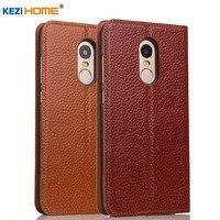Case For Xiaomi Redmi Note 4 KEZiHOME Genuine Leather Case Flip Stand Leather For Xiaomi Redmi
