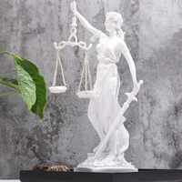 Greek Justice Goddess Statue Fair Angels Resin Sculpture People Ornaments Vintage Home Decoration Accessories Office Craft Decor