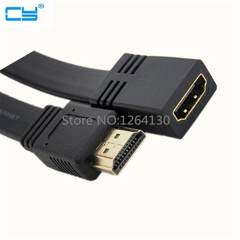 50 սմ բնակարան HDMI A տիպի 19 հատ տղամարդկանցից hdmi A տիպի իգական երկարացման մալուխ 1080p HDTV- ի համար