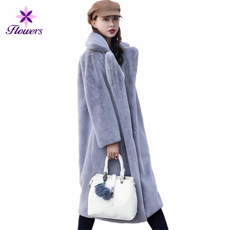 5a8918dabd4 Осенне-зимнее меховое пальто женское Высокое качество Новый из корейской  норки мех плюс размер бархат