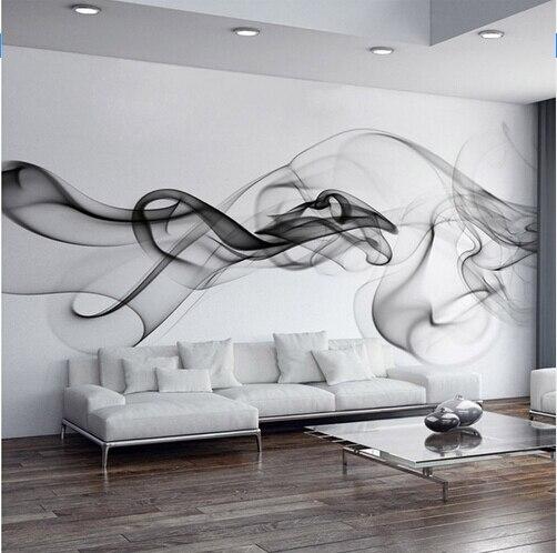 Custom Foto Tapete Moderne 3D Wandbild Tapete Schwarz Weiß Rauch Nebel  Kunst Design Schlafzimmer Büro Wohnzimmer Wand Papier In Custom Foto Tapete  Moderne ...