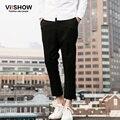 VIISHOW Estilo Europeo Hombres Pantalones Casuales Recta Pantalón Negro Pantalones Casuales Hombres de Negocios Diseño Pantalones KC61261