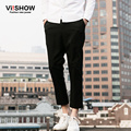 VIISHOW European Style Casual Men Pants Straight Pant Black Casual Trousers Men Business Design Pants KC61261