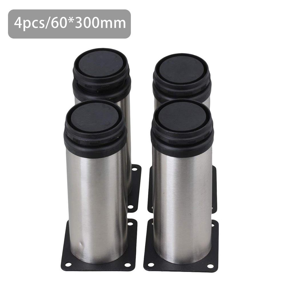 10cm/30cm Furniture Adjustable Cabinet Leg Stainless Steel Round Tube Adjustable Foot Cover Thickened Reinforcement Cabinet Foot
