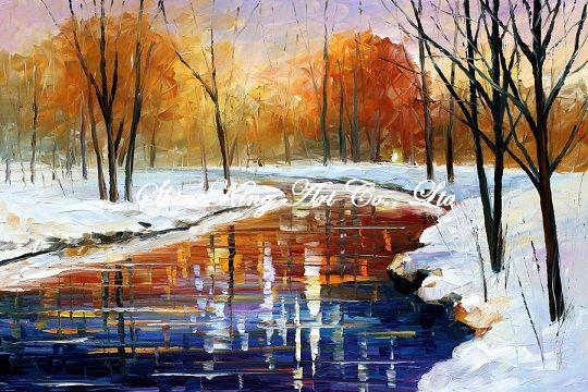 palette font b knife b font oil painting modern oil painting canvas oil painting K286