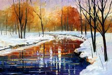 palette knife oil painting  modern oil painting canvas oil painting K286