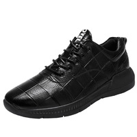 Exclusive Quality Genuine Leather Sport Shoes Men's Wear Resistant Nonslip Casual Sneakers Waterproof Running Shoes 2018 Autumn