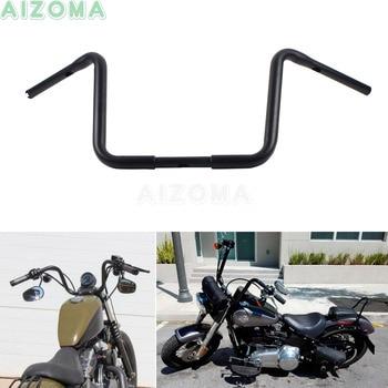12'' Rise Motorcycle 1-1/4 '' Ape Hanger Handlebar For Harley Chopper Sportster Dyna Bobber Softail Custom 16.5'' Wide Drag Bars