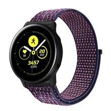 Ремешок для Galaxy Watch 42 мм & Galaxy часы активное 40 мм и Шестерни S2 спортивные 20/22 мм нейлон спортивная петля браслеты для Amazfit Bip