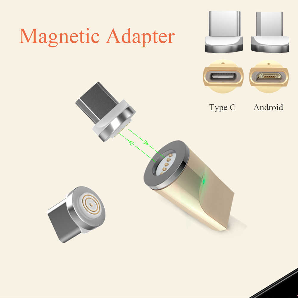 1PC Magnetic USB Type C /Micro USB(Android) Charger Phone Adapter Converter Magnetic Connector for Magnetic Charging Date Cable