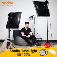 Godox 400Ws 스트로브 스튜디오 플래시 라이트 키트 2pcs 200Ws 사진 조명-스트로브, 라이트 스탠드, 트리거, 소프트 박스