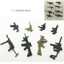 Realistische 4D Montiert Waffe Modell Carbine Maschinenpistole 1:6 Skala Modell Gebäude Kits Spielzeug für Jungen