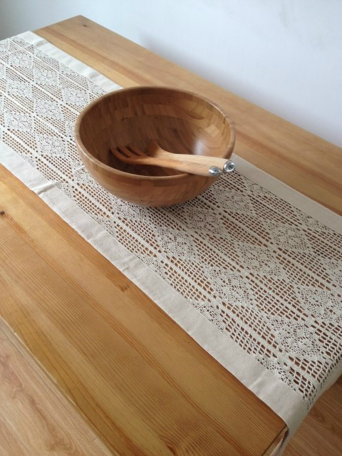 American country style Handmade crochet table runner tablecloths     American country style Handmade crochet table runner tablecloths Crochet  flower cotton coffee table flag Cup Mat Doily Set Cover in Table Runners  from Home