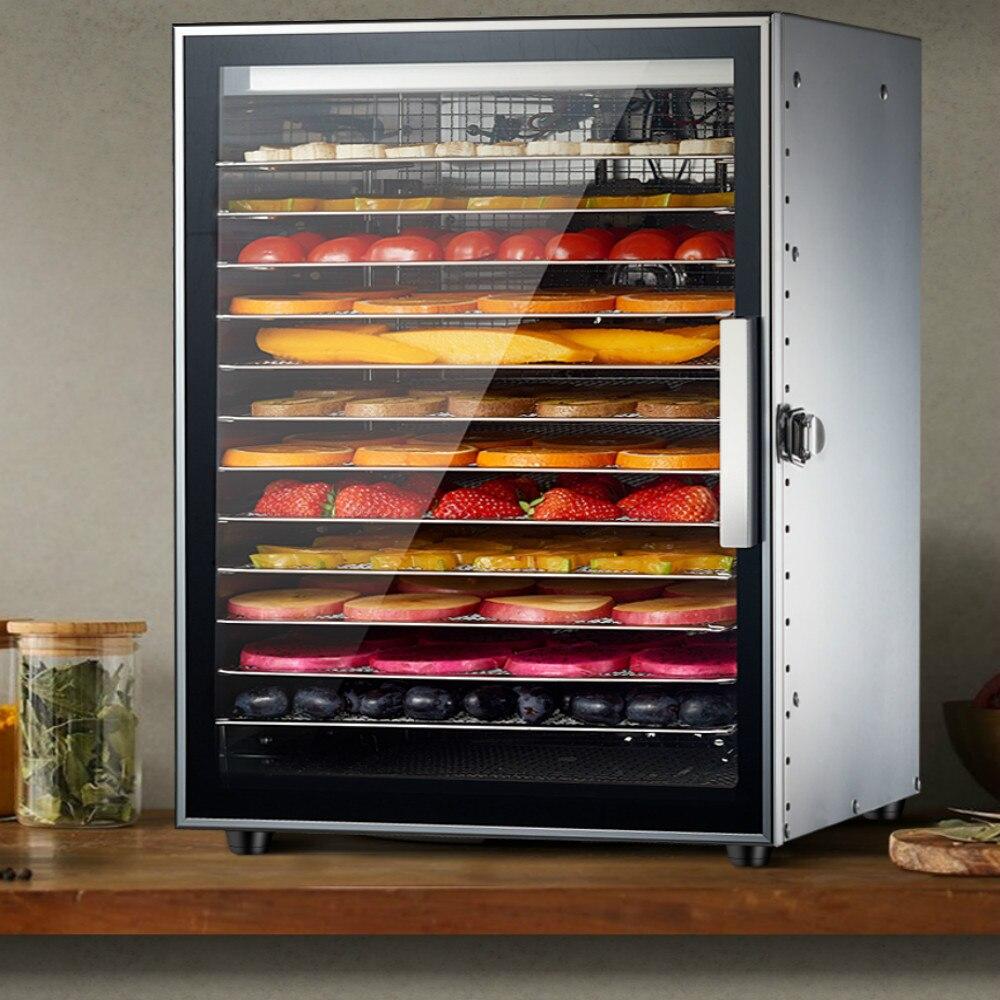 2019 douze couches en acier inoxydable Commercial fruits séchoir légumes viande séchée pour animaux de compagnie collations Air sèche alimentaire fruits secs machine