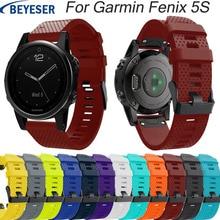 For Garmin Fenix 5S/5S Plus Watchband Straps for Garmin Fenix 5s smart Watch Releasement Silicone Wrist Band Quick release strap все цены