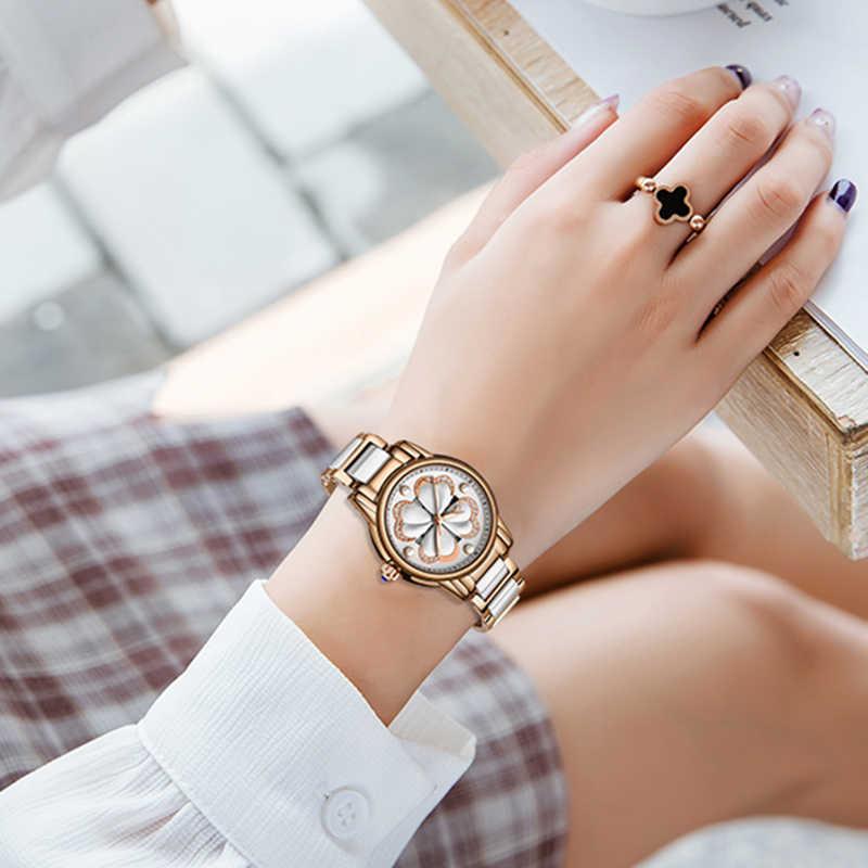 2019 New SUNKTA Top Brand Luxury Waterproof Women Watches Fashion Simple Ceramic Quartz Watch Women Dress Clock Relogio Feminino
