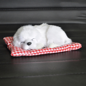 Image 3 - Car Ornament ABS Plush Dogs Decoration Simulation Sleeping Dog Toy Automotive Dashboard Decor Ornaments Cute Auto Accessories