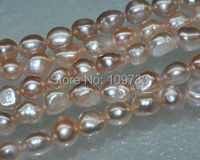 Jewelry 00161 Natural Rare 5strs AA+10*12mm luster baroque freshwater pearl