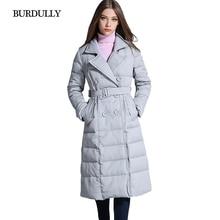 Slim Lapel Long Winter Womens White Duck Down Jacket Warm Coat Black Down Jackets Plus Size Jaquetas Feminina Warm New Clothing