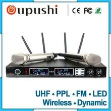 OUPUSHI HU386 colar sem fio fm microfone sem fio Dinâmico microfone cantando