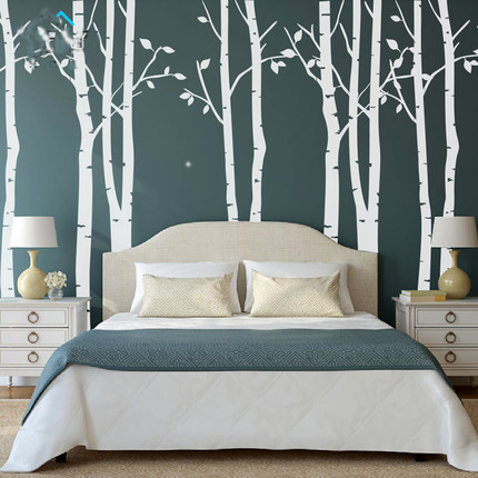 Free mail diy vinyl Fashion simple tree forest etting wall of large wall stickers The sitting room TV bedroom wall stickers
