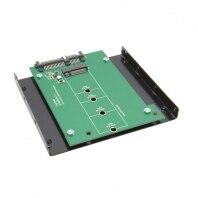 30pcs / lots E431 E531 X240 Y410P Y510P M.2 NGFF PCI-E 2 LANE SSD to SATA 22pin hard disk case Enclosure 3.5 Bracket Disk Bay