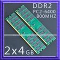Новый 2x4 ГБ pc2-6400 БАРАНА Настольных 800 мГц PC2-6400 240-конт DDR2 800 мГц Высокой плотности 800 МГц Рабочего Стола память 2x4 ГБ 800 Бесплатная доставка