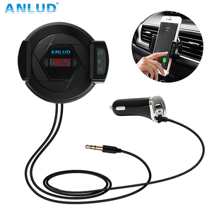 Bluetooth FM Transmitter Wireless Radio Adapter Car Kit Car Charger Hands Free Phone Holder AUX Input For iPhone Android MP3
