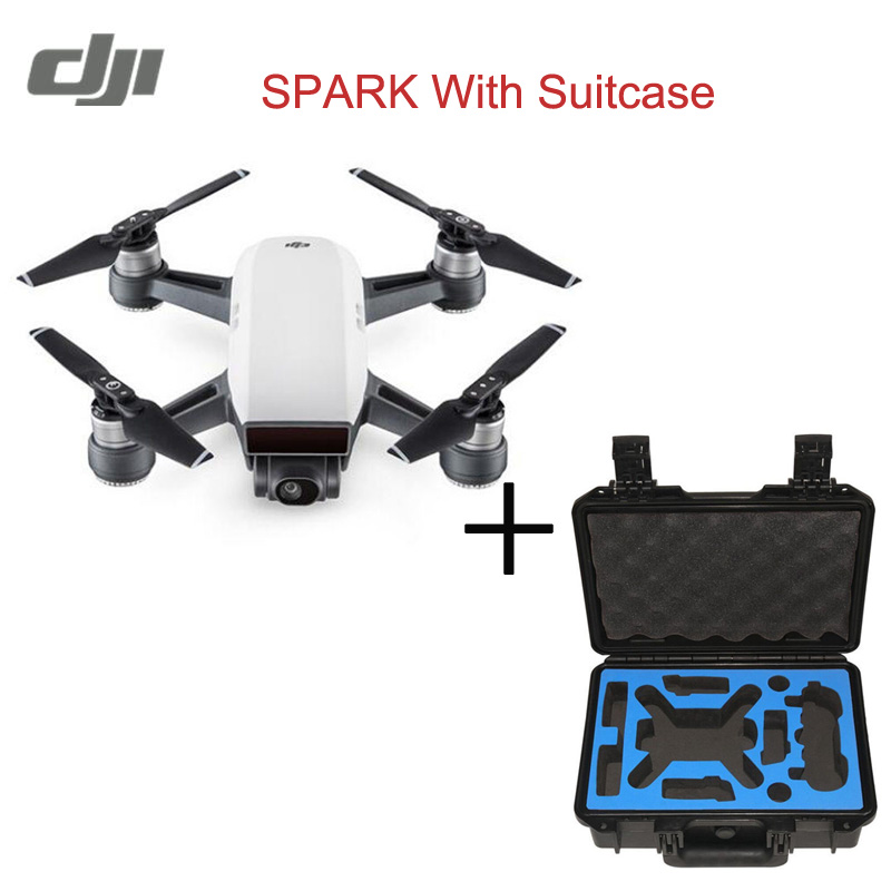 In Stock Original DJI Spark Drone 2KM FPV Quadcopter RC Drone With 12MP 2-Axis Mechanical Gimbal Camera QuickShot Gesture Mode with two batteries yuneec q500 4k camera with st10 10ch 5 8g transmitter fpv quadcopter drone handheld gimbal case