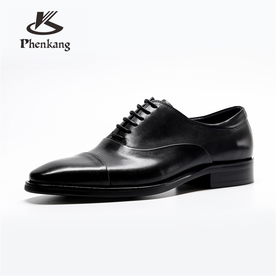 Formal Shoes 100% Genuine Cow Leather Brogue Shoes Mens Casual Flats Shoes Vintage Handmade Sneaker Oxford Shoes For Men Spring Black Red Shoes