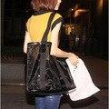Большой размер прозрачный пляжная сумка марли мешок женская сумочка одна сумка бесплатная доставка
