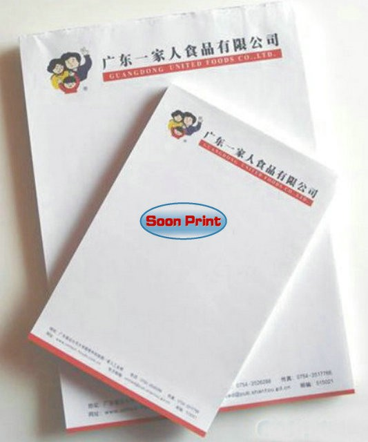 Memo pads letter writing paper with company letter head logo memo pads letter writing paper with company letter head logo printing customised a3 for sample use spiritdancerdesigns Images