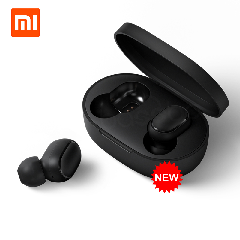 In Stock Xiaomi Redmi Airdots TWS Bluetooth Earphone Stereo Bass BT 5.0 Eeadphones With Mic Handsfree Earbuds AI Control