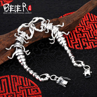 Vintage hand chain Beier 925 sterling silver bracelet centipede link chain animal bracelet men accessories Jewelry SCTYL0150