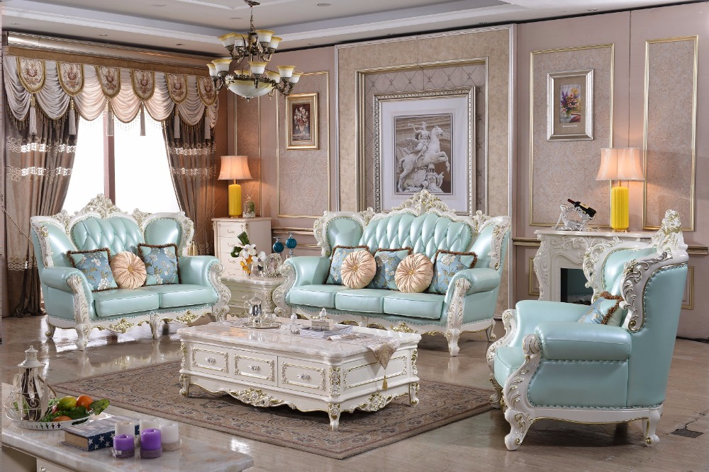 hot sale cheap price furniture good quality 321 leather sofa luxury french  style solid wood italian - Online Get Cheap Good Quality Living Room Furniture -Aliexpress