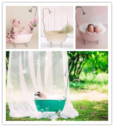 Newborn Photography Props Bathtub 100 Days Full Moon Baby Iron Creative Props Baby Photography Props