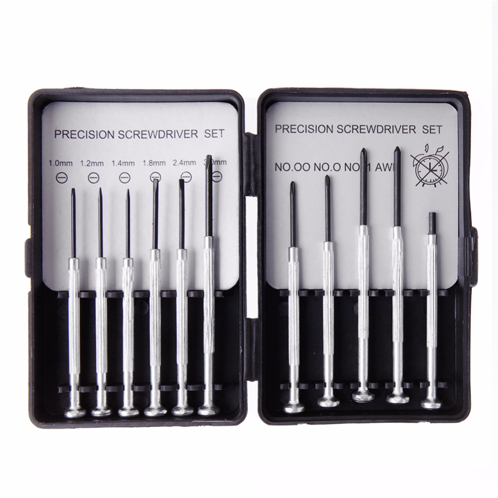 11Pcs Micro Screwdriver Set Precision Watch Jewelry Glasses Sunglasses Repairs Kit