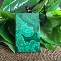 new Real Malachite Necklace Pendant Lucky Green Jade Pendant Jade Jewelry Fine Jewelry