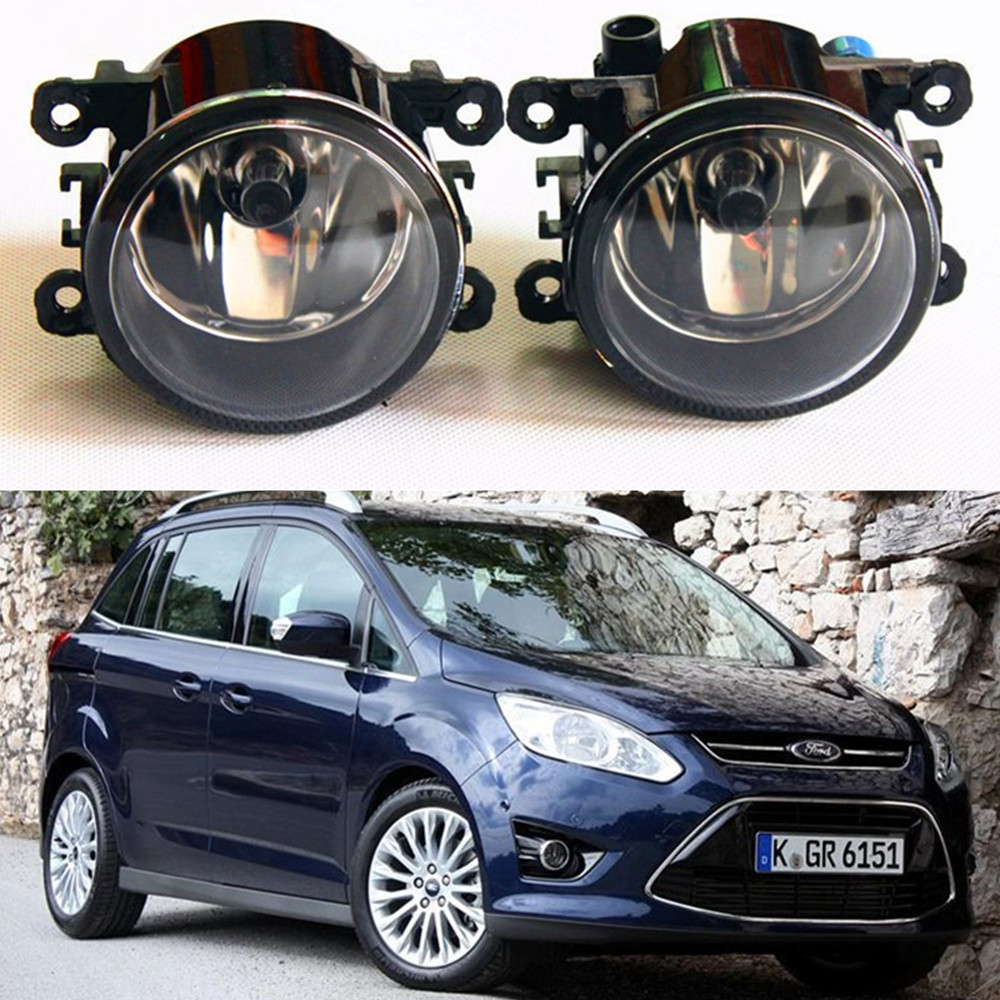 For FORD GRAND C-MAX MPV  2010-2015  Fog Lamps Car styling Fog Lights Halogen  1SET novline autofamily ford grand c max 2010 цвет бежевый