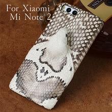 Wangcangli brand phone case real snake head back cover shell For Xiaomi Mi Note 2 Plus full manual custom processing