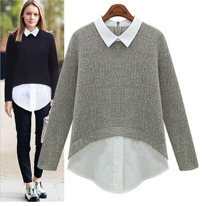 Aliexpresscom Buy 2016 Ladies Spring Sweater Knitwear Chiffon
