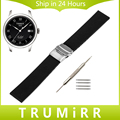20mm 22mm 24mm Silicone Rubber Watchband + Tool for Tissot T035 T097 Watch Band Safety Buckle Strap Wrist Belt Bracelet Black