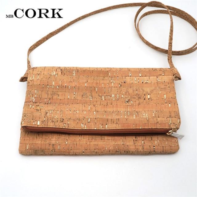 fde14b899ca Natural cork with silver crossbody bag shoulder foldover bag clutch vegan  leather Cork bags Wooden vintage bag-214