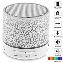 New A9 Mini Speaker Portable LED USB Loudspear 3W Wireless Bluetooth Speaker Support TF Card For Phone Laptop With MIC FM Radio css led stage light with wireless bluetooth speaker support tf card music fm radio with usb for parties dj etc black