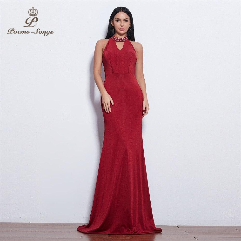 Poems Songs 2019 New style elegant beautiful attractive   Evening     Dress   prom gowns vestido de festa Formal Party   dress   long   dress